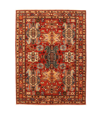 Hand knotted 7'8x5'7 super fine oriental kazak rug 238x174 cm  Abstract Carpet