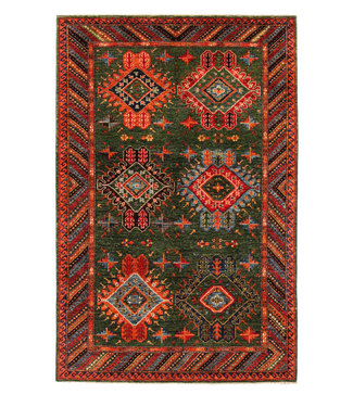 Hand knotted 8'3x5'5 super fine oriental kazak rug 253x169 cm  Abstract Carpet