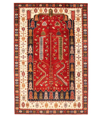Hand knotted 9'8x6'4 super fine oriental kazak rug 300x197 cm  Abstract Carpet
