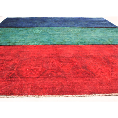Handgeknüpft Modern 232x195 cm Abstrakt Wolle Teppich
