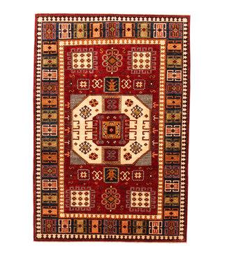 Hand knotted super fine Red kazak best Wool 294x201cm Area Rug Carpet 9'6x6'5ft