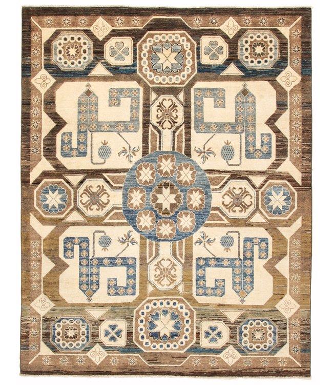 Handgeknoopt Modern Art tapijt 246x195 cm  oosters kleed vloerkleed