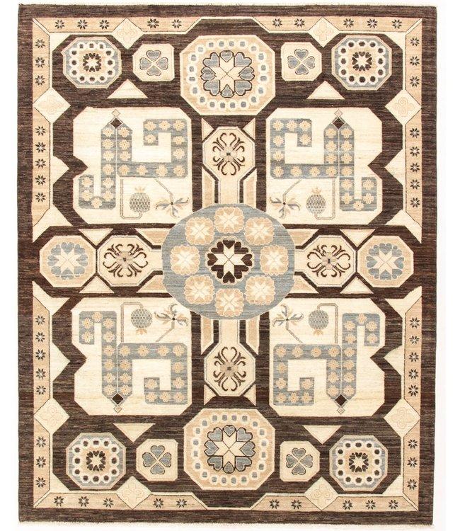 Handgeknoopt Modern Art tapijt 244x195 cm  oosters kleed vloerkleed