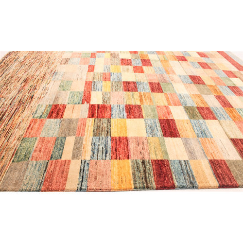 Handgeknoopt Modern Art tapijt 238x196 cm  oosters kleed vloerkleed