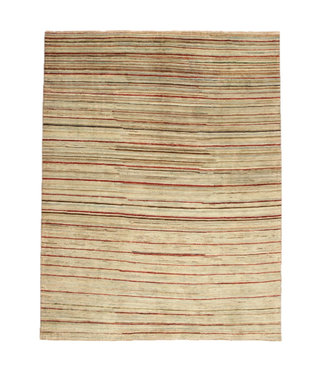 Hand knotted 8'3x6'5 ft Modern stribe Sheep Wool Rug 255x200 cm Area rug Carpet