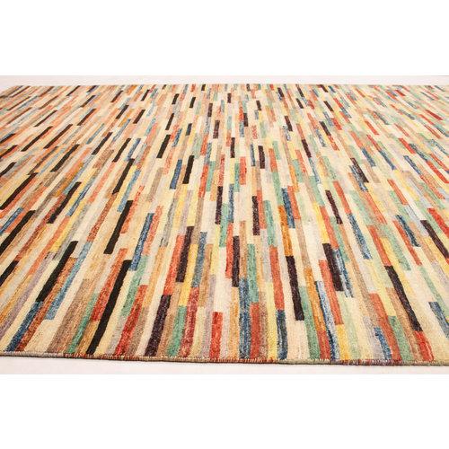 Handgeknüpft Modern 247x196 cm Abstrakt Wolle Teppich