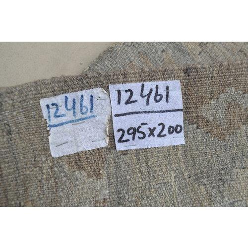 Grau natürlich kelim teppich 295x200 cm afghan kilim teppich