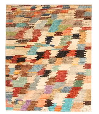 Handgeknoopt Modern Art Deco tapijt 247x198 cm  oosters kleed vloerkleed multi