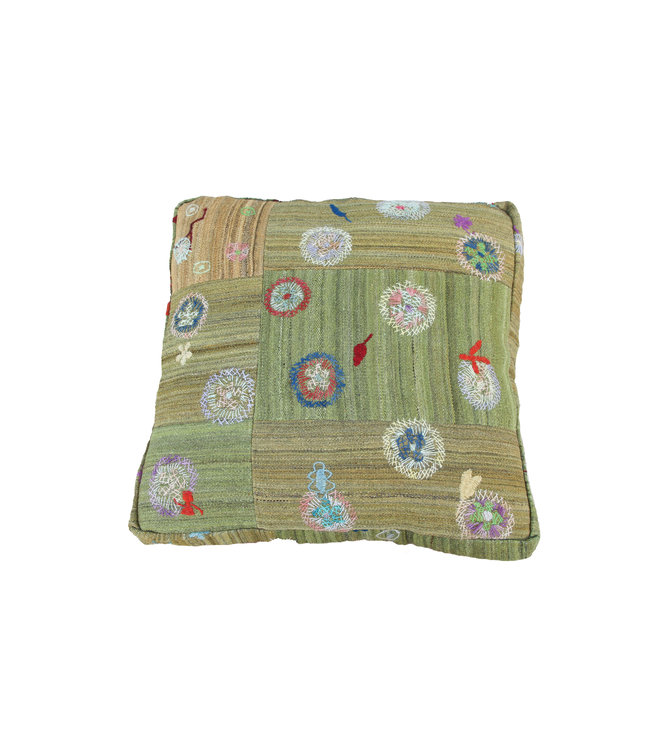 70x70 x 15 cm poef vloerkussens Ottoman vintage kelim