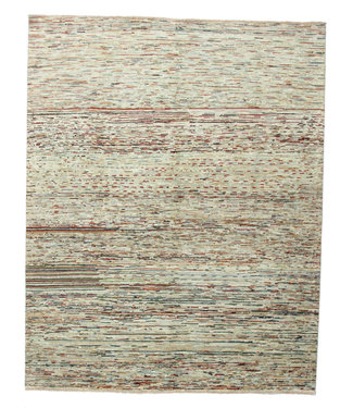 Hand knotted 8'2x6'5 ft Modern Art Sheep Wool Rug 252x200 cm Area rug Carpet