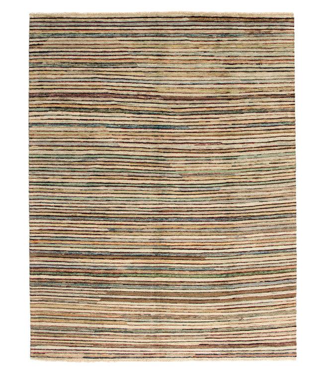 Handgeknoopt Modern Stribe tapijt 252x197 cm  oosters kleed vloerkleed