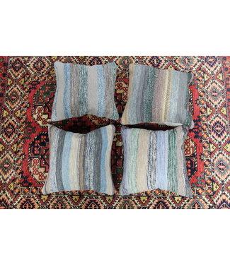 Modern vintage 4 x kilim cushion cover ca 50x50 cm with filling