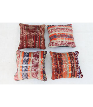 4x modern unique Kilim Cushion ca 45x45 cm