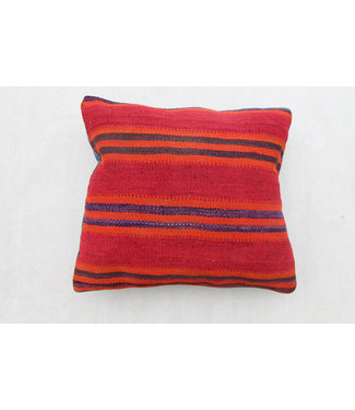 vintage 1x kilim cushion cover ca 60x60 cm with filling