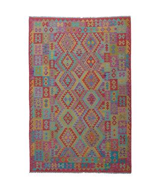 9'78x6'60 Sheep Wool Handwoven Multicolor Traditional Afghan kilim Area Rug