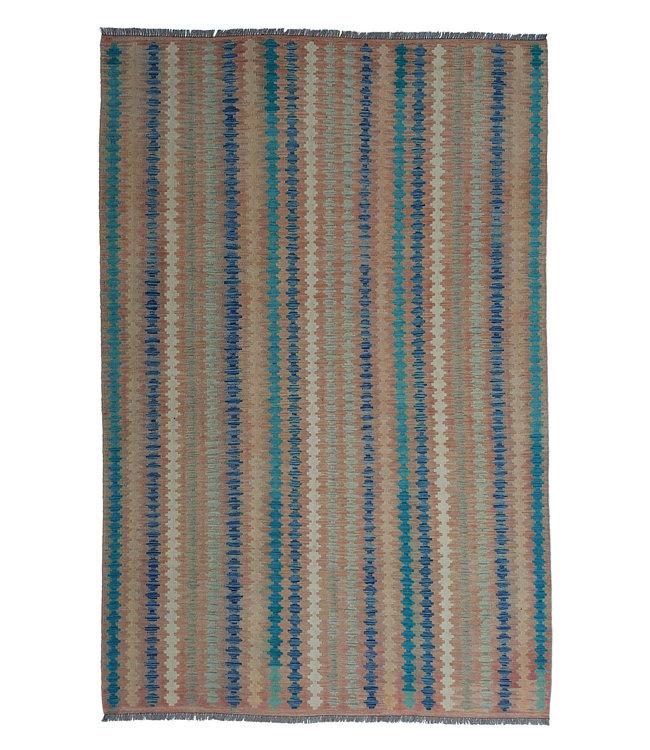 exclusive  Vloerkleed Tapijt Kelim 294x199 cm Kleed Hand Geweven Kilim