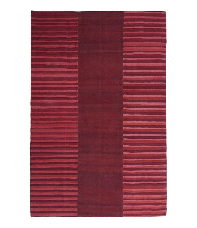 exclusive  Vloerkleed Tapijt Kelim 301x209 cm Kleed Hand Geweven Kilim