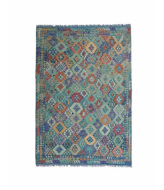 exclusive  Vloerkleed Tapijt Kelim 252x258cm Kleed Hand Geweven Kilim