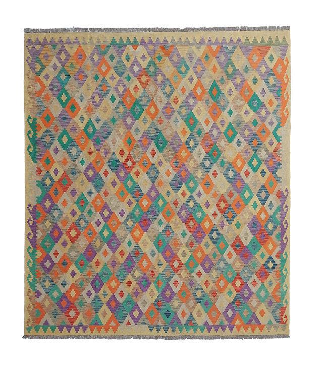 exclusive  Vloerkleed Tapijt Kelim 288x263cm Kleed Hand Geweven Kilim