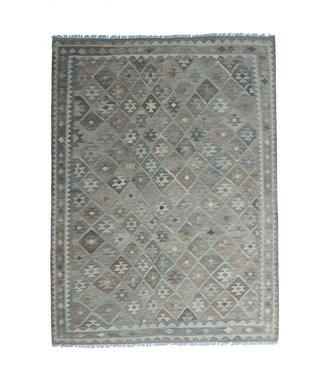 9'61x6'89 Sheep Wool Handwoven Multicolor Traditional Afghan kilim Area Rug