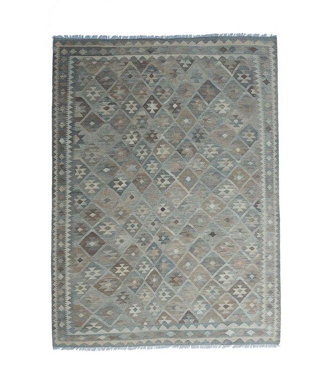 Handgemaakt Natural Kelim Wol Tapijt 293x210 cm