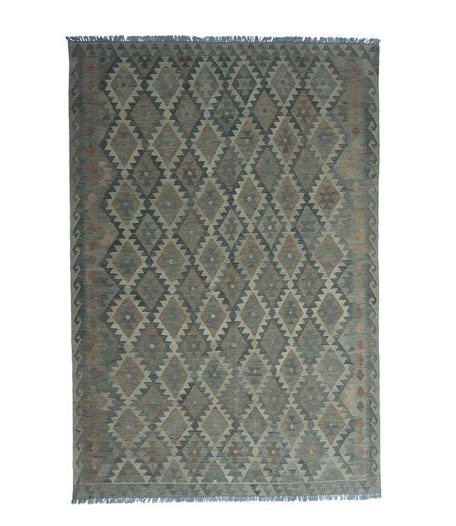 Handgemaakt Natural Kelim Wol Tapijt 297x206 cm
