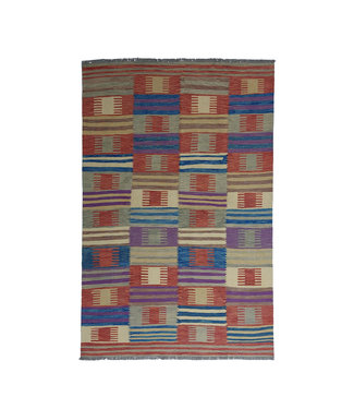 9'65x6'56 Sheep Wool Handwoven Multicolor Traditional Afghan kilim Area Rug