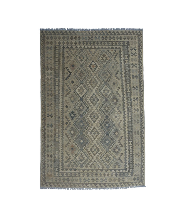 exclusive  Vloerkleed Tapijt Kelim 305x201 cm Kleed Hand Geweven Kilim