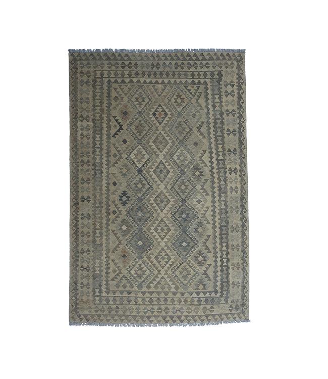 Handgemaakt Natural Kelim Wol Tapijt 305x201 cm