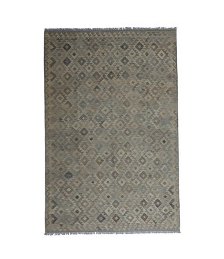 9'68x6'63 Sheep Wool Handwoven Natural Traditional Afghan kilim Area Rug