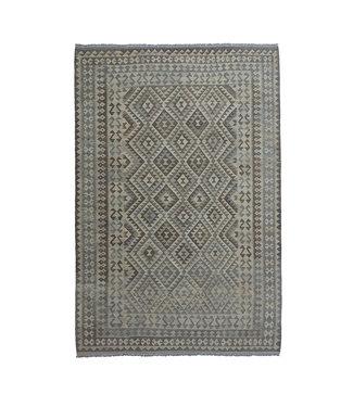 exclusive  Vloerkleed Tapijt Kelim 301x208 cm Kleed Hand Geweven Kilim