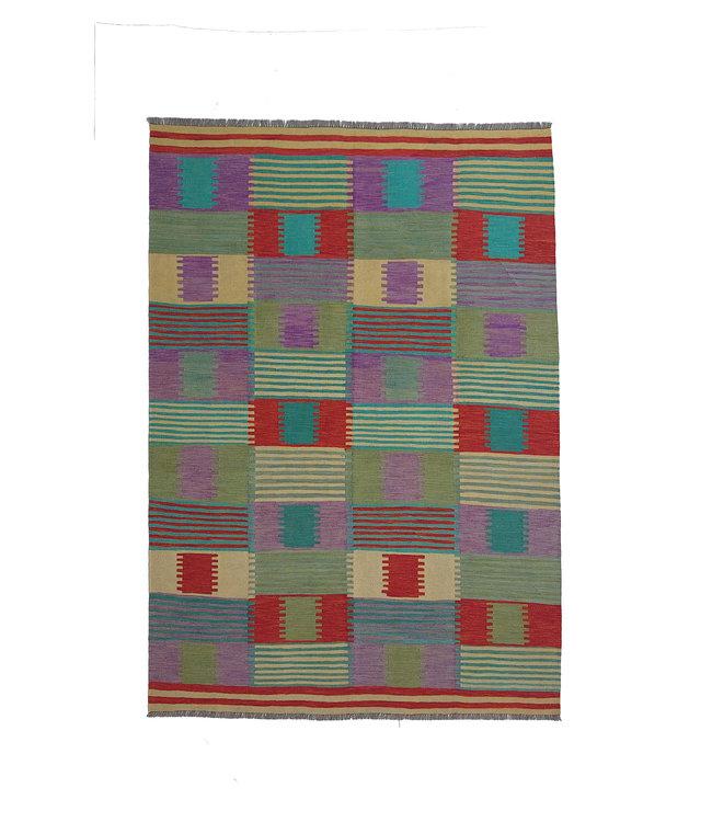 exclusive  Vloerkleed Tapijt Kelim 294x203 cm Kleed Hand Geweven Kilim