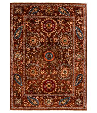 Zargar Rugs Hand knotted 9'1x6'7 Suzani  Wool Rug 278x203 cm  Oriental Carpet