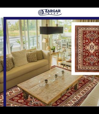 Zargar Rugs super fijn oriental kazak vloerkleed 241x174 cm