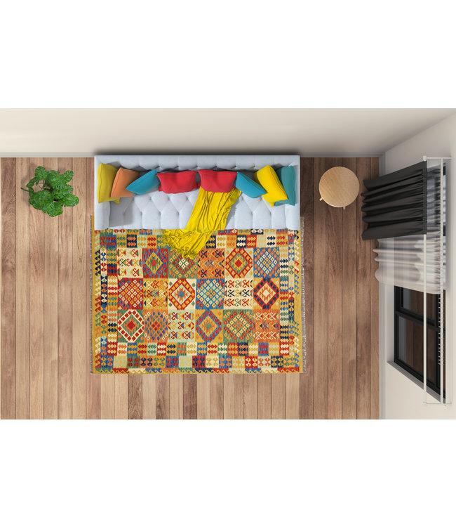exclusife kelim kleed  292x206 cm vloerkleed tapijt kelims hand geweven