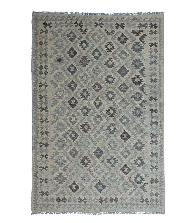Handgemaakt Natural Kelim Wol Tapijt 302x205 cm