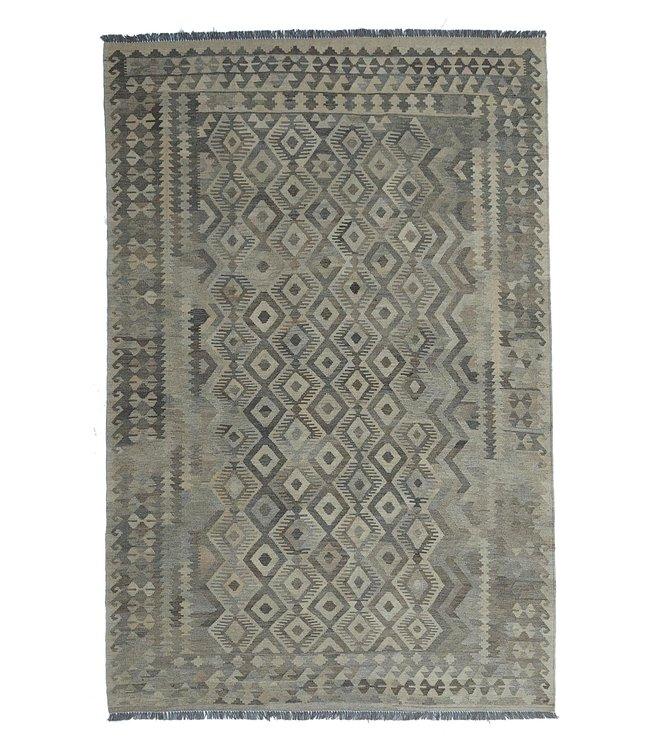 Handgemaakt Natural Kelim Wol Tapijt 294x200 cm