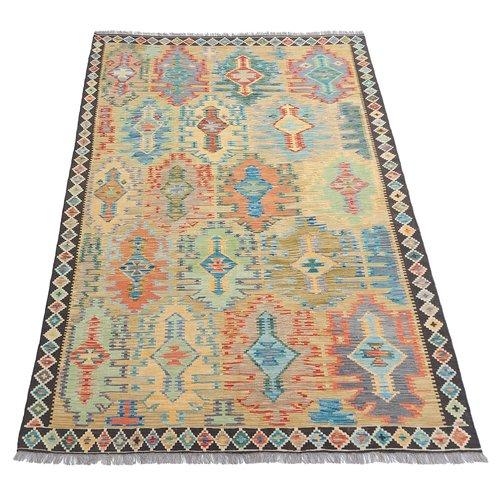 exclusive Kelim Teppich 299x206 cm Multicolor afghan kilim teppich