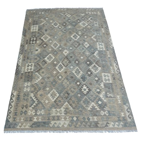 exclusive  Vloerkleed Tapijt Kelim 286x198 cm Natural Kleed Hand Geweven Kilim