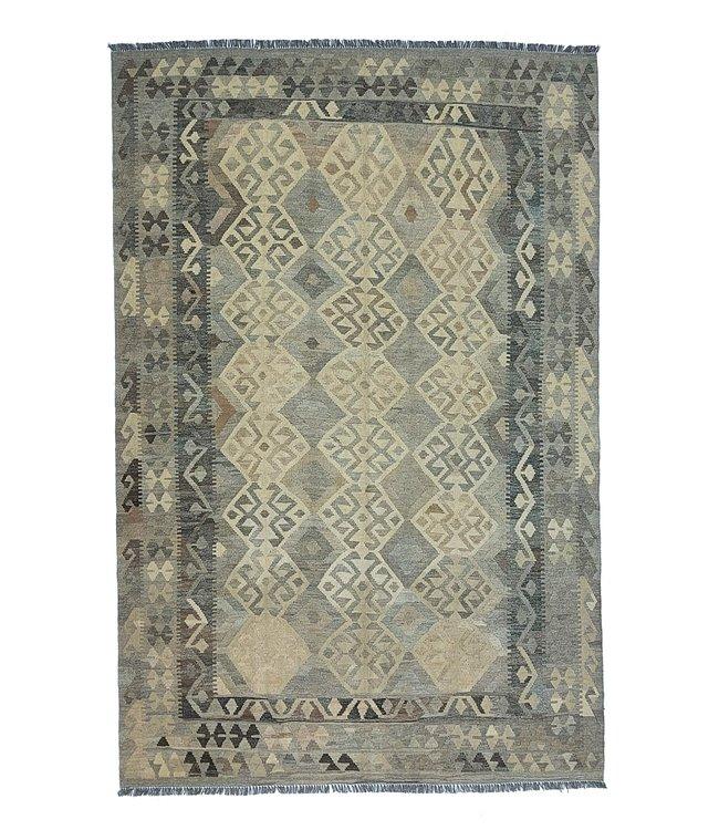 Handgemaakt Natural Kelim Wol Tapijt 294x203 cm