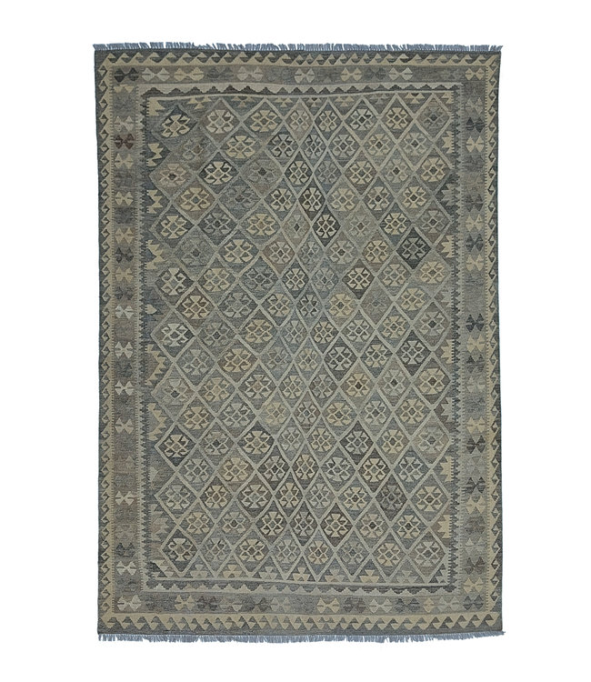 exclusive  Vloerkleed Tapijt Kelim 294x210 cm Natural Kleed Hand Geweven Kilim