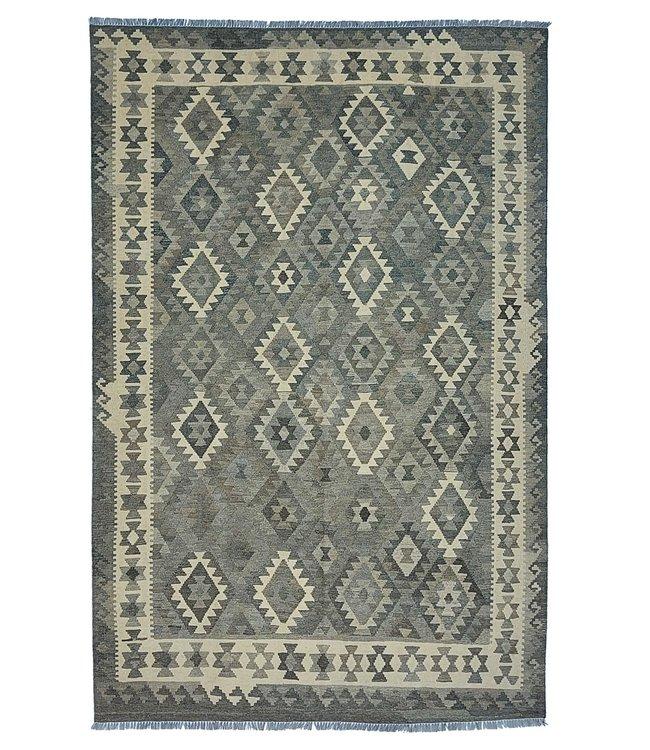 Handgemaakt Natural Kelim Wol Tapijt 297x197 cm