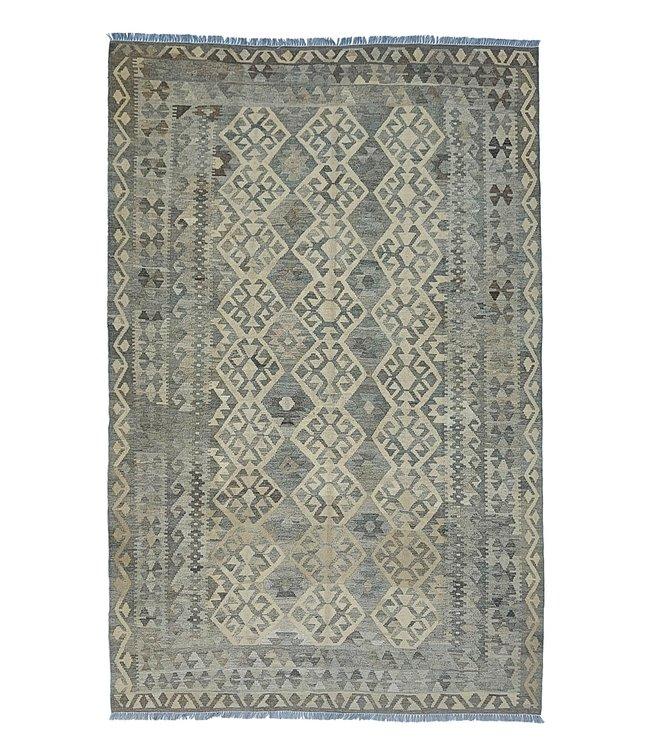 Handgemaakt Natural Kelim Wol Tapijt 293x198 cm