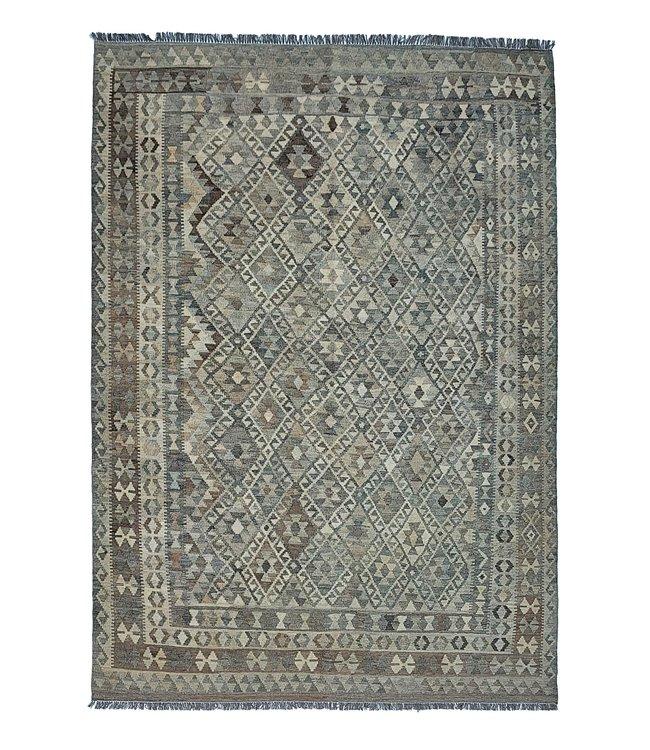 Handgemaakt Natural Kelim Wol Tapijt 282x205 cm