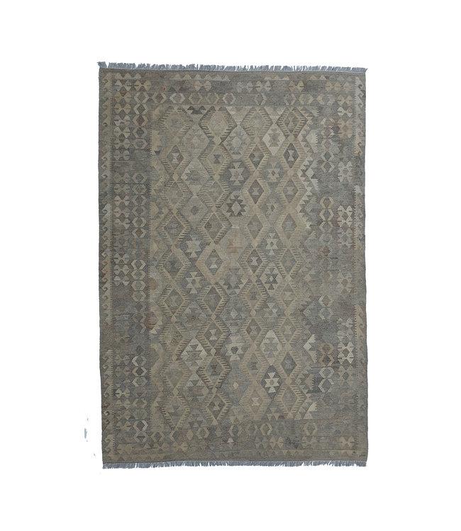 exclusive  Vloerkleed Tapijt Kelim 290x195 cm Natural Kleed Hand Geweven Kilim