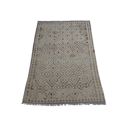 exclusive  Vloerkleed Tapijt Kelim 302x203 cm Natural  Kleed Hand Geweven Kilim
