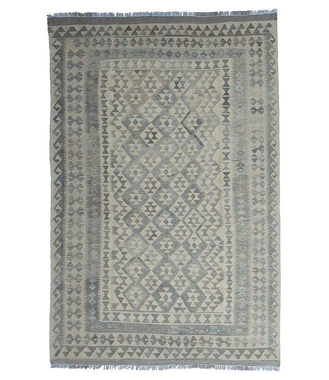 Handgemaakt Natural Kelim Wol Tapijt 300x204 cm