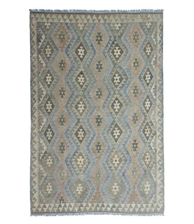 exclusive  Vloerkleed Tapijt Kelim 297x196 cm Natural Kleed Hand Geweven Kilim