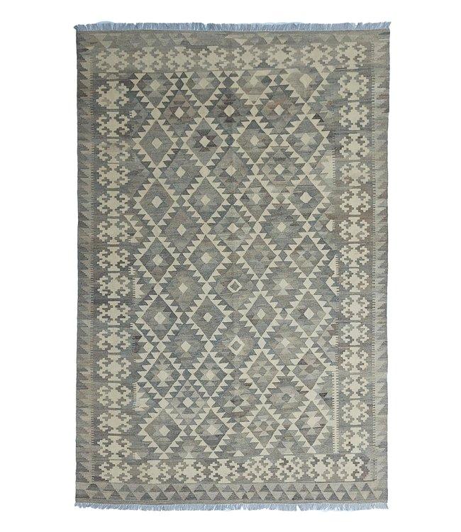 Handgemaakt Natural Kelim Wol Tapijt 300x200 cm