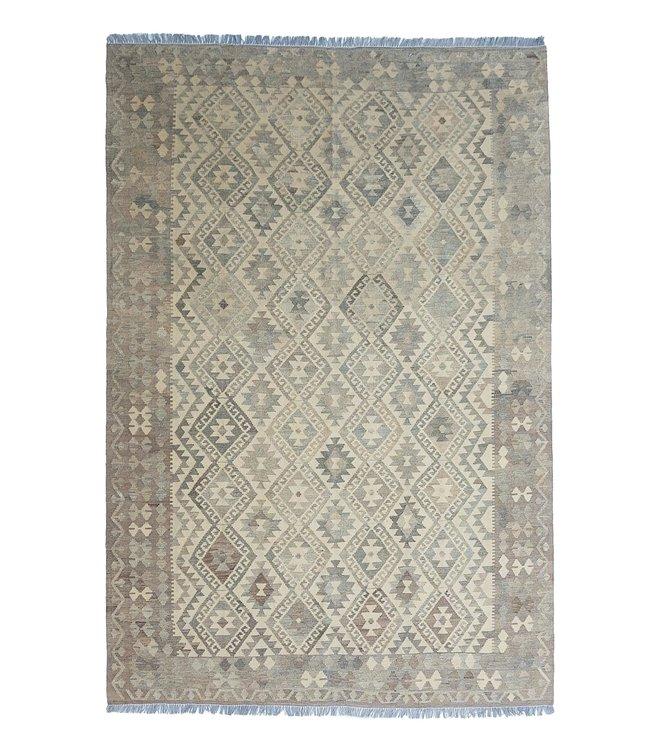 Handgemaakt Natural Kelim Wol Tapijt 298x210 cm